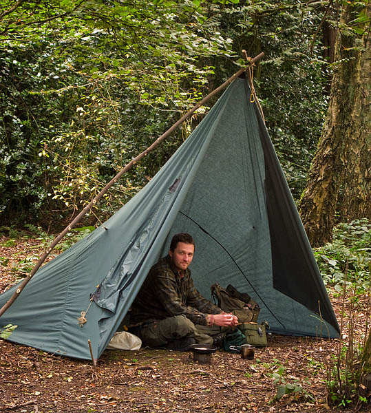 A simple but effective tarp set up - © 2017 - Gary Waidson - Ravenlore